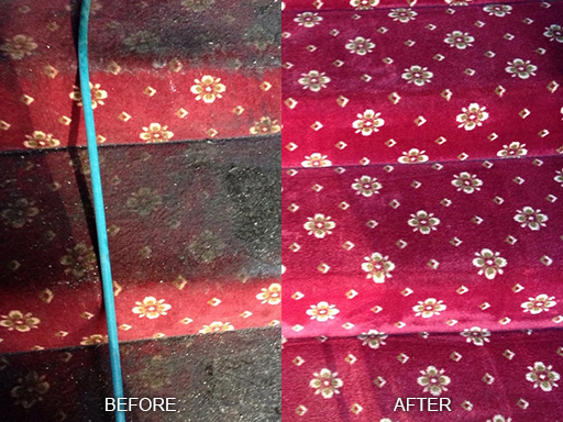 Soiled Carpet Before and After