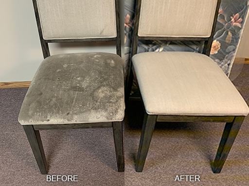 Dirty Upholstery Before and After